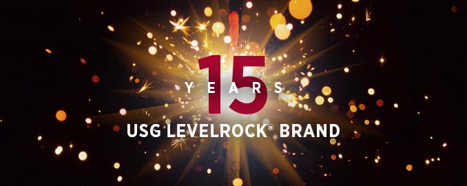 USG Levelrock Brand 15 Years